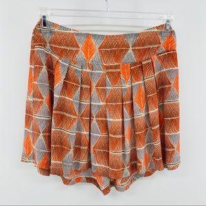 Madewell Broadway & Broome Orange Silk Shorts